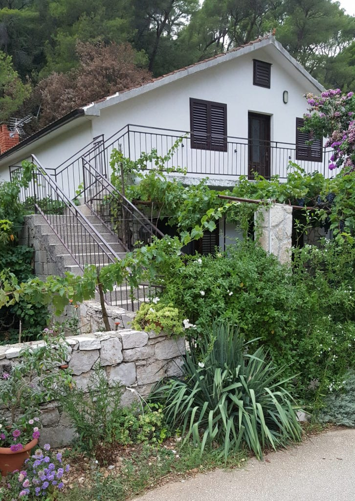 Apartments in Croatia. In the picture is our house in Vela Stiniva Bay