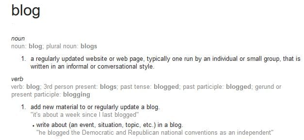 Become Paid Blogger Blog definition