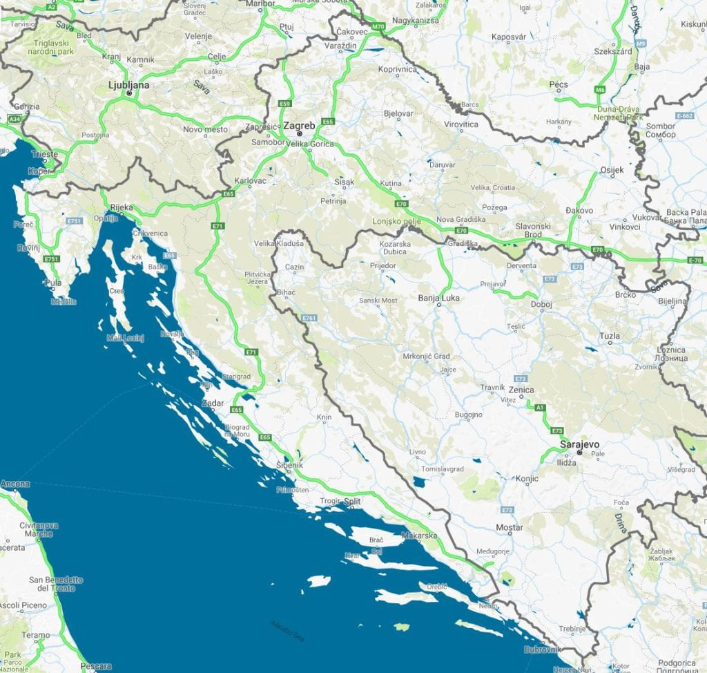 How Is Driving In Croatia - Important information - Auto Map Of Croatia on italian autos, cuba autos, israel autos, peru autos, argentina autos, new zealand autos,