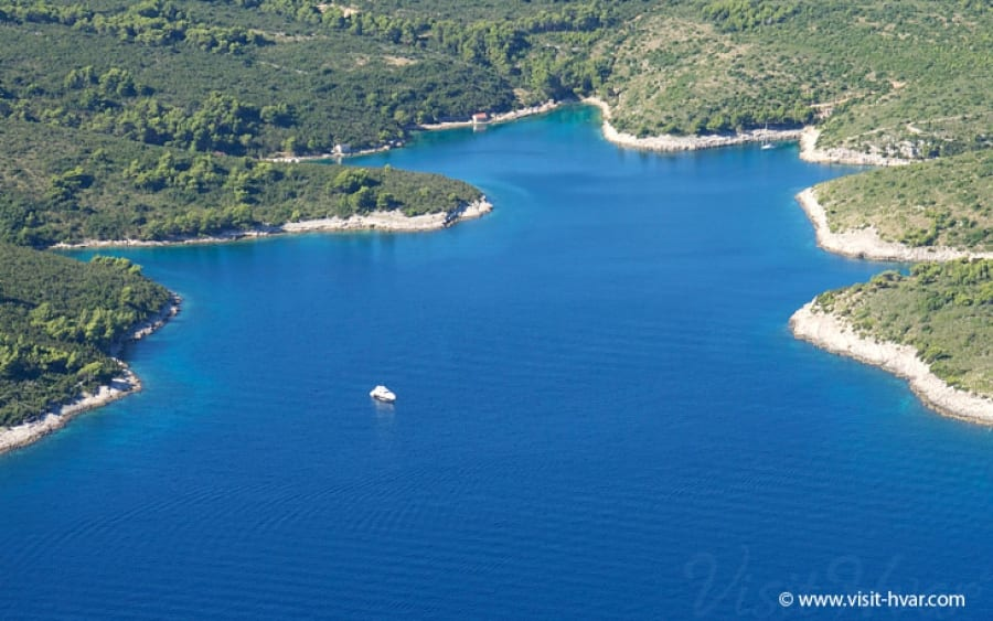 Hvar Island in Croatia Zukova  Bay