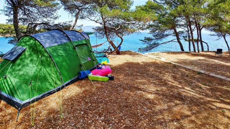 camping on Hvar