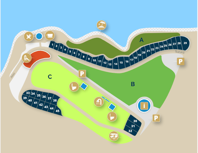 Camp Holiday map